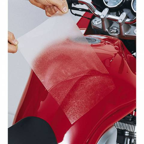 Lepící folie - čirá pod tankvak nebo boční brašny na motorku