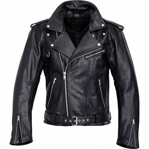 Delroy křivák kožená bunda na motorku chopper