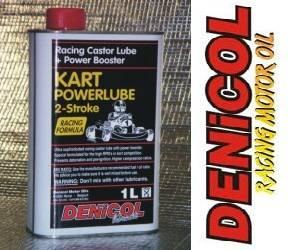 DENICOL Kart Powerlube 2T ricínový olej s přísadou Power Booster pro závodní motokáry