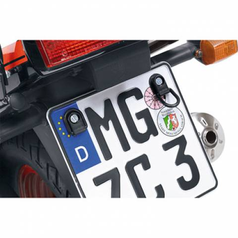 Úchyty pro zajištění zavazadel na motorku