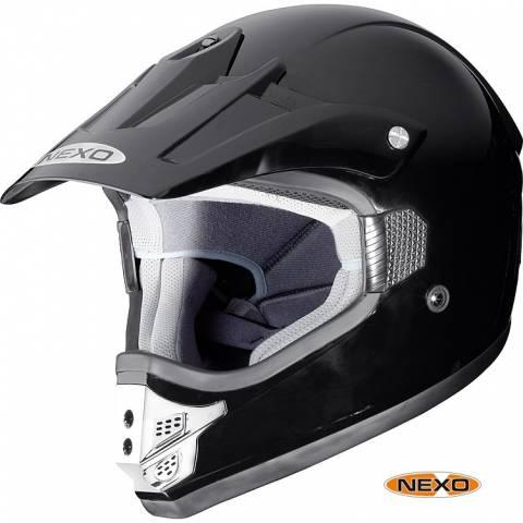 Nexo MX helma s kšiltem na motorku cross nebo enduro