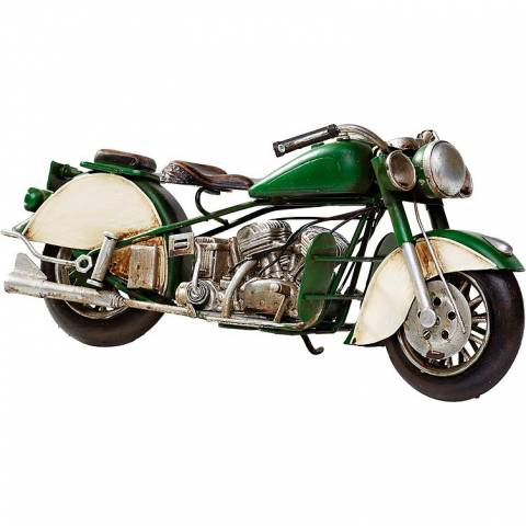Model motocyklu Indian Retro Bike Racing Green