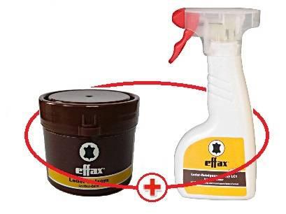 Čistič na kůži Effax 250 ml + balzám na kůži Effax 50 ml