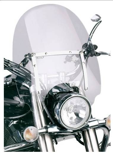 Plexi štít pro moto chopper Virago Drag Star Intruder Shadow VTX - větší