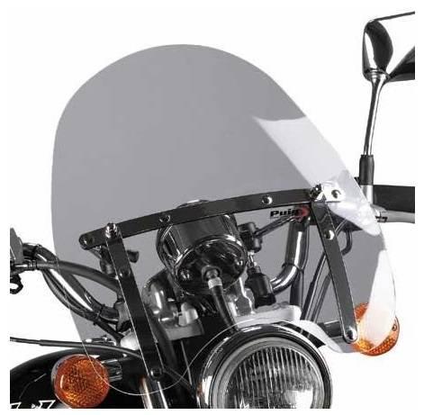 Plexi štít pro moto chopper Virago Drag Star Intruder Shadow VTX kouřové