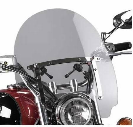 Plexi štít pro moto chopper Virago Drag Star Intruder Shadow VTX kouřové větší