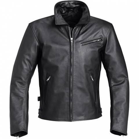 Universální dámská pánská kožená bunda na moto Delroy
