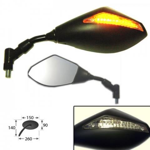 Zpětné zrcátko s LED blinkrem na motorky i skútry