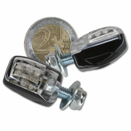 LED blinkry na motorku mini černé