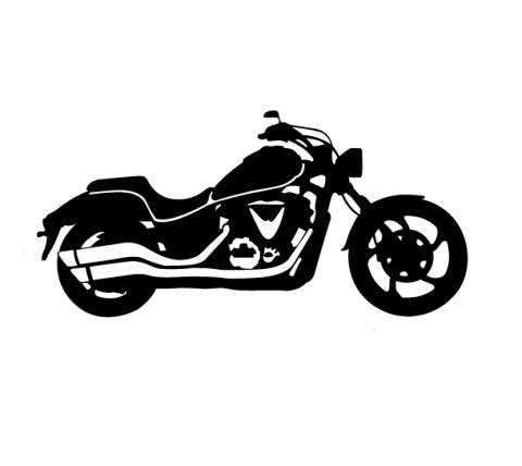 Samolepka motorkář na auto - chopper 1