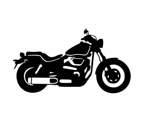 Samolepka motorkář na auto - chopper 2