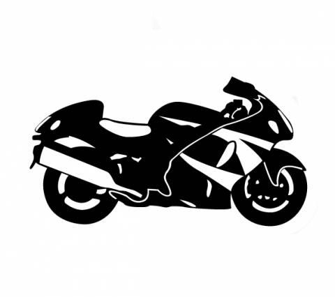 Samolepka motorkář na auto - silniční motorka 1