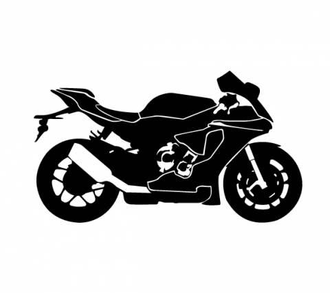 Samolepka motorkář na auto - silniční motorka 2