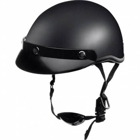 Helma Headcap na motorku chopper černá matná