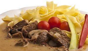 Hovězí maso stroganoff - 2 porce