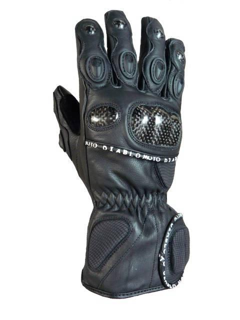 Diablo Moto kožené rukavice na motorku s karbonem