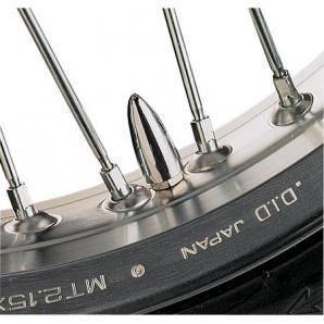 Čepičky na ventilky homole chromované motodoplňky