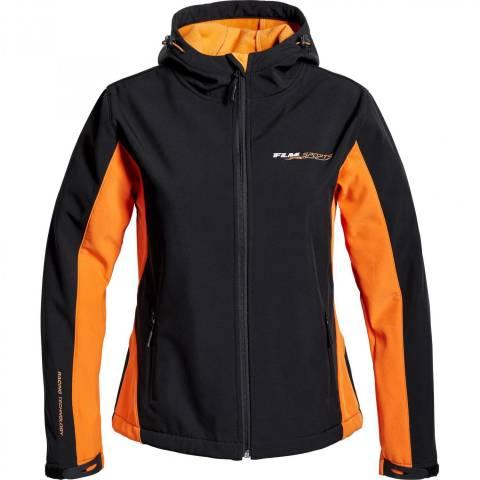 FLM SOFTSHELL sportovní bunda dámská oranžová