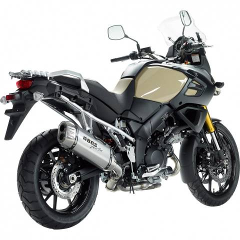 Laděný výfuk BOS Suzuki V-Strom 1000 od 2014 stříbrná