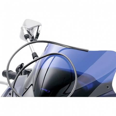 Lemovka na plexi štít nebo blatník pro chopper - carbon