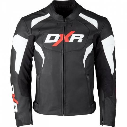 DXR BLAST kožená bunda černo/bílá NOVINKA 2019