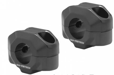 Zvýšení řidítek SW Motech pro 22 mm řidítka černá - 25 - 50mm