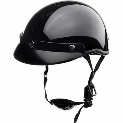 Helma Headcap na motorku chopper černá lesklá