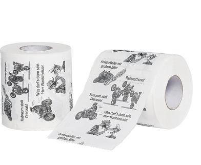 Toaletní papír  motorkář dárek pro motorkáře